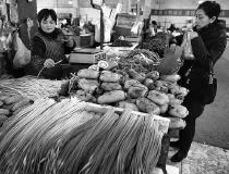 雪天过后西安市菜价上涨 上涨的多为外地蔬菜