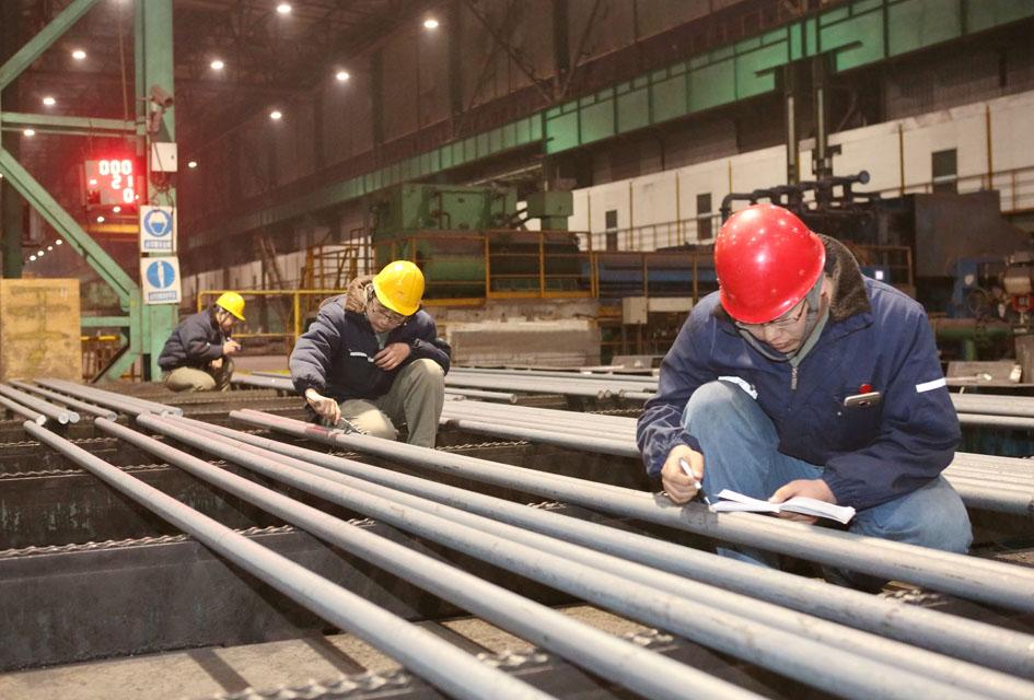 河钢宣钢英标Φ16 500B螺纹钢批量生产