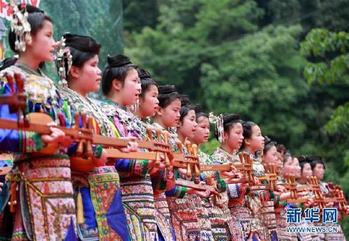 侗寨欢度竹米节