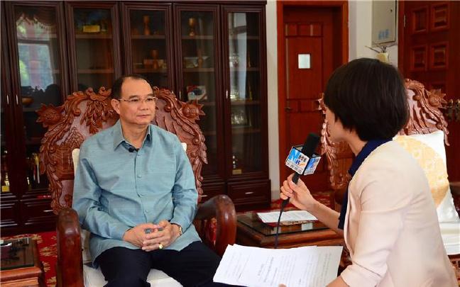 """老挝驻昆明总领事本廉·洪翁孙:南博会老挝参展企业入围""""门槛高"""""""