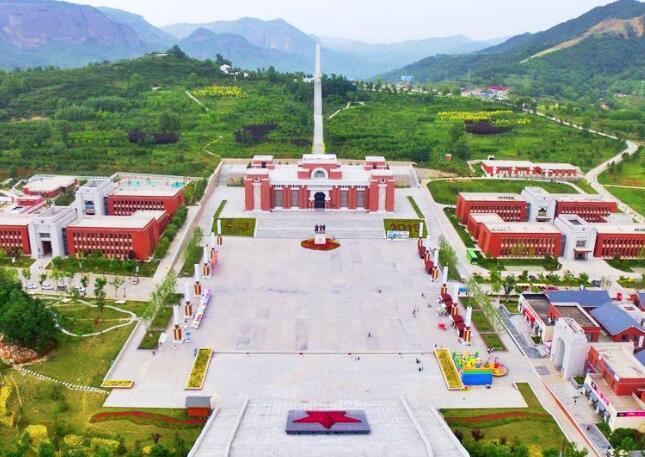 鸟瞰陕北革命旧址风貌