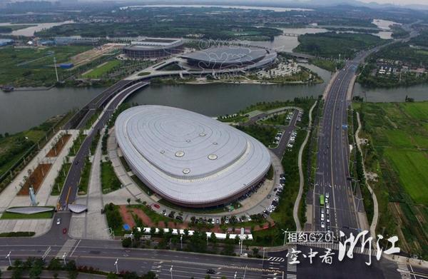 俯瞰绍兴奥体中心建筑