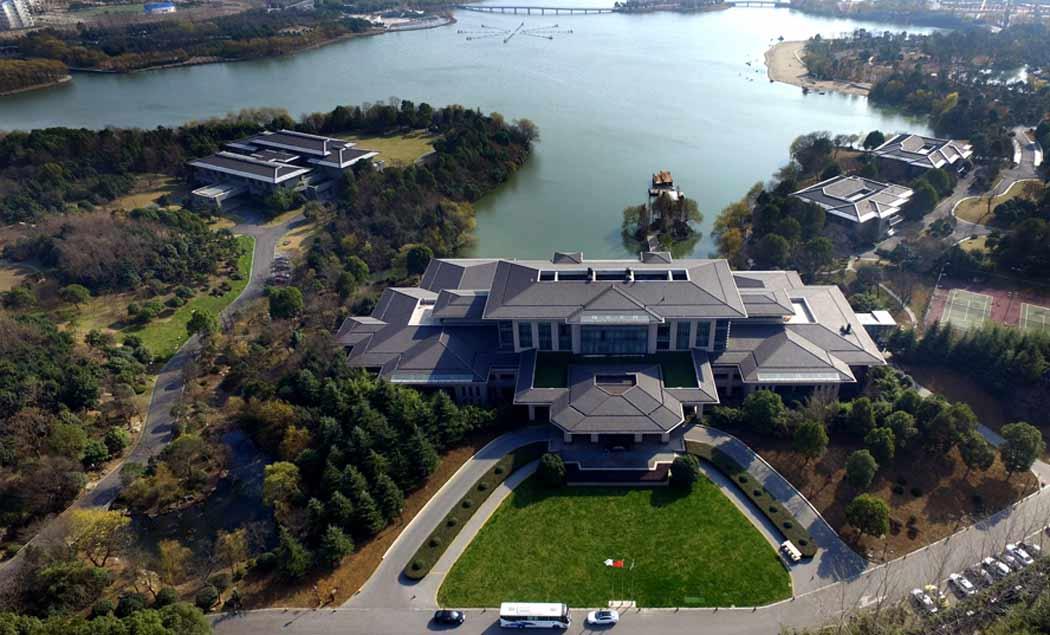 俯瞰翡翠湖迎宾馆