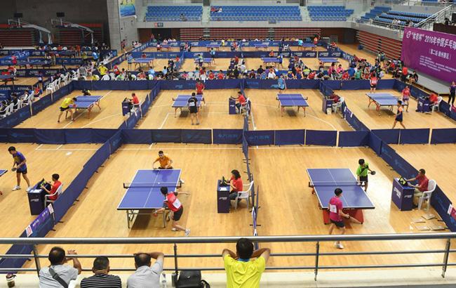2016年中国乒乓球俱乐部乙A比赛在安徽滁州开拍