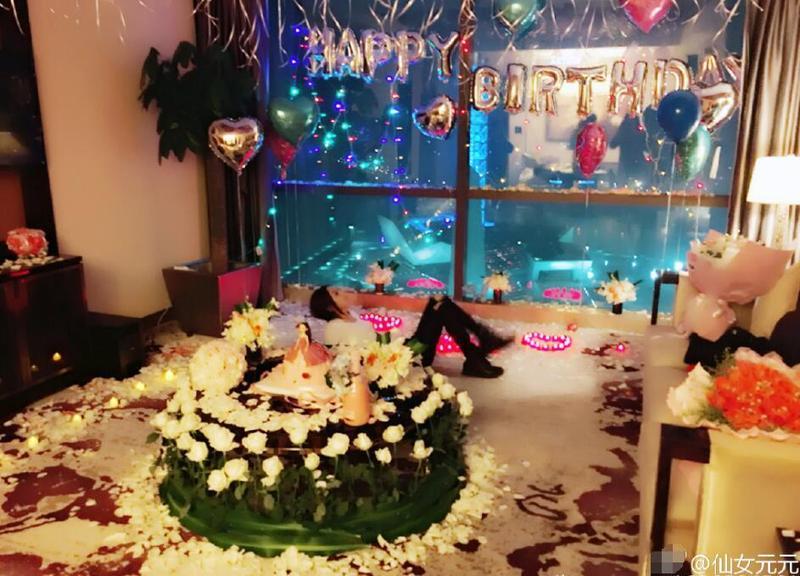 赵丽颖庆29岁生日 会场布置得十足公主心