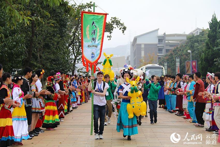 """400余名洋学生云南角逐""""汉语桥""""中文比赛"""