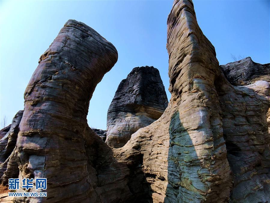 安徽黟县现石林景观