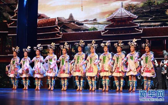 感恩宁波20年对口帮扶 贵州原生态歌舞演出引市民喝彩