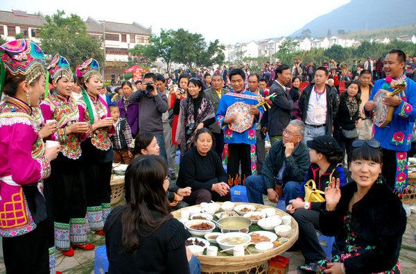 千桌万人磨盘宴将于3月11日亮相云南新平