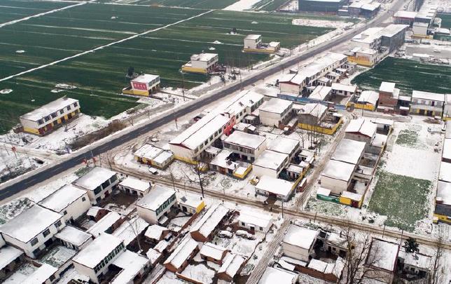 雪后乡村分外静