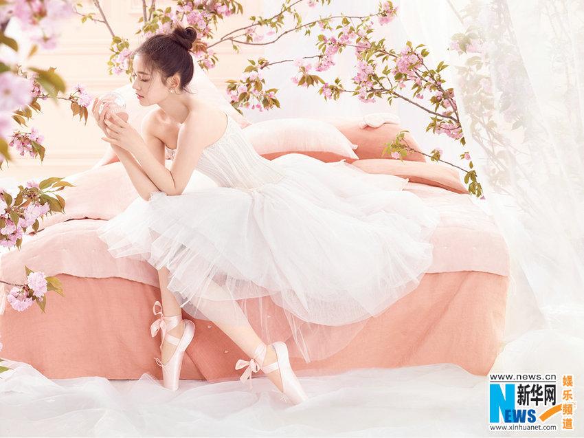 林允夏日粉色系写真