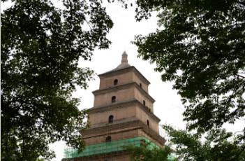 西安对千年古塔大雁塔进行维护