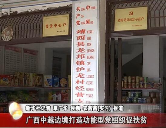 广西中越边境打造功能型党组织促扶贫