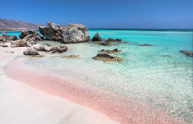 摄影师拍摄巴哈马神奇粉红梦幻沙滩