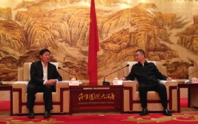 中国中铁总裁张宗言拜会吕梁市委书记王清宪