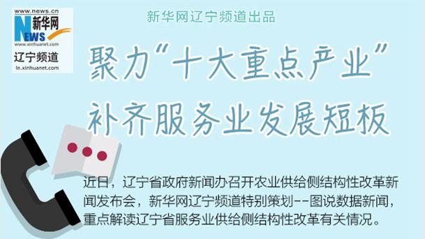 """【图说供给侧结构性改革】 """"十大重点产业""""补齐服务业发展短板"""