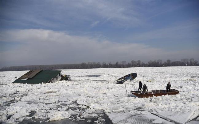 结冰的多瑙河