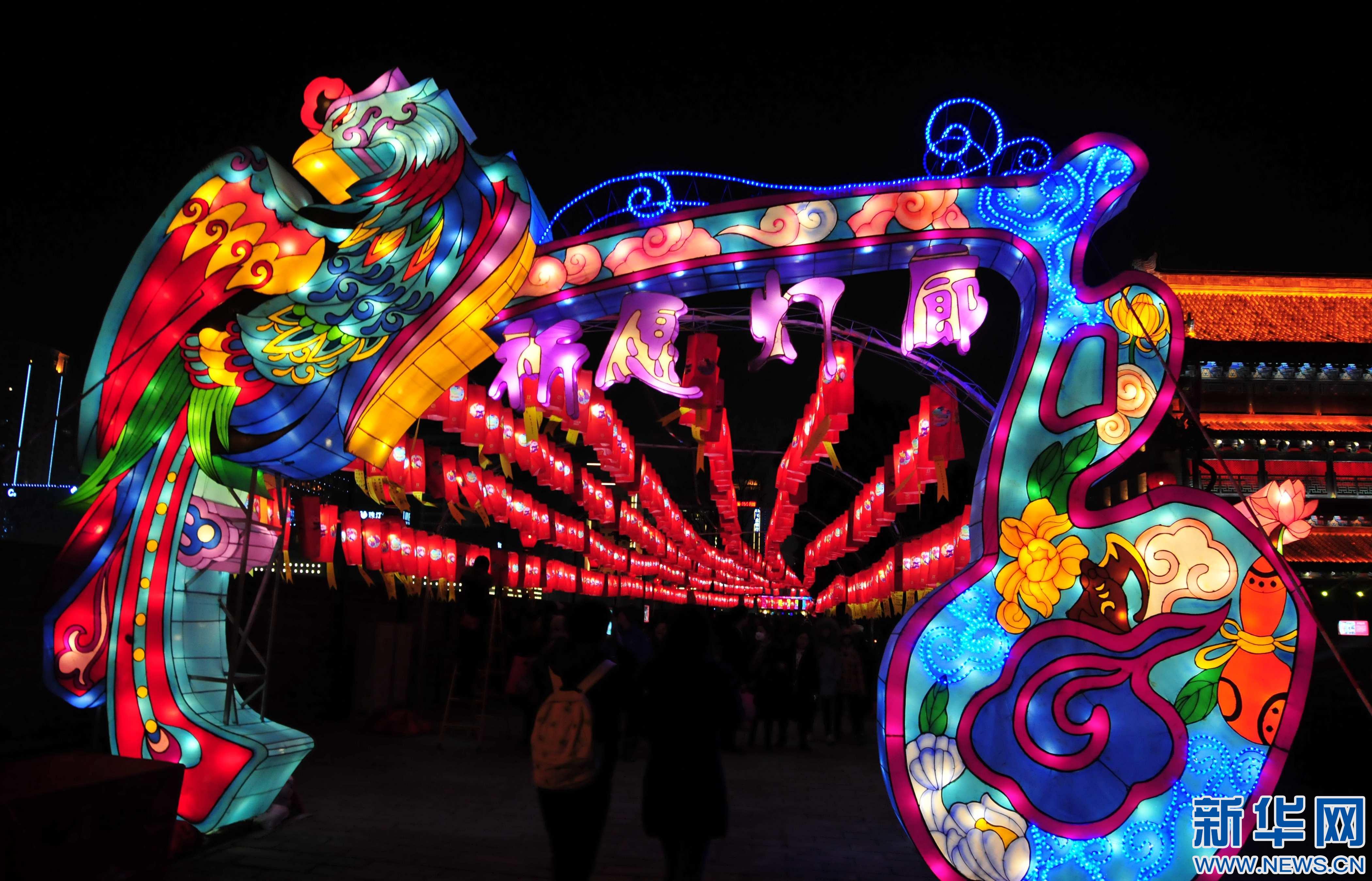 2017西安城墙新春灯会亮灯