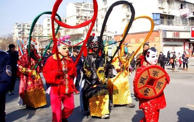 马鞍山:傩舞表演 祈福新春