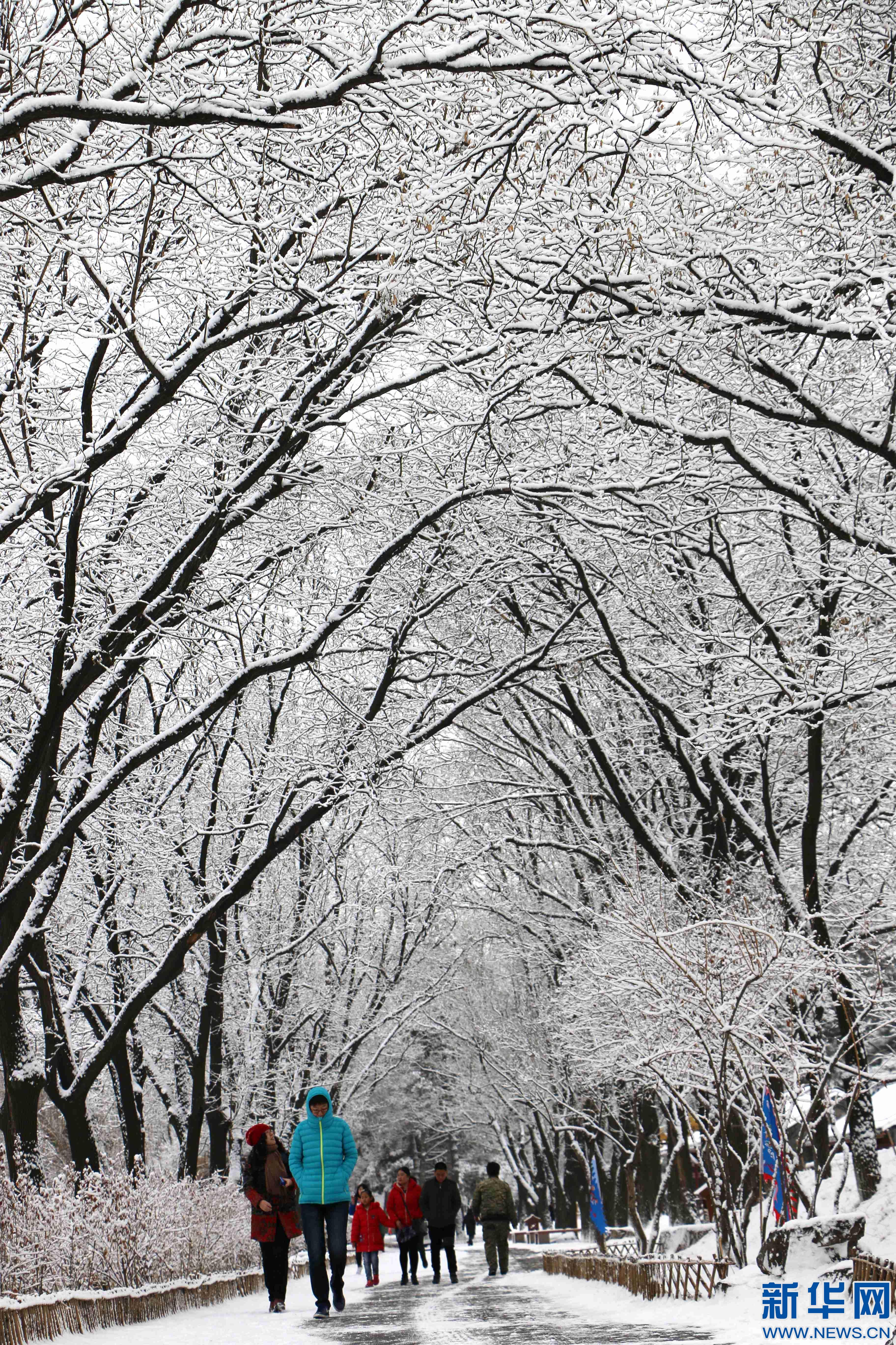 承德:春雪润山庄