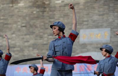 芭蕾舞剧《红色娘子军》走进延安 重温红色经典