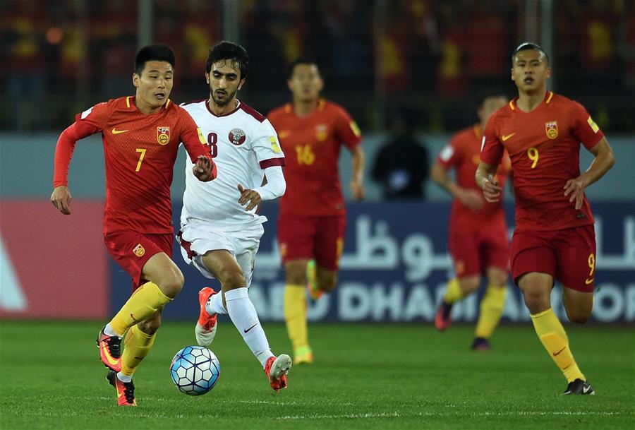 世预赛:中国队主场0-0卡塔尔队