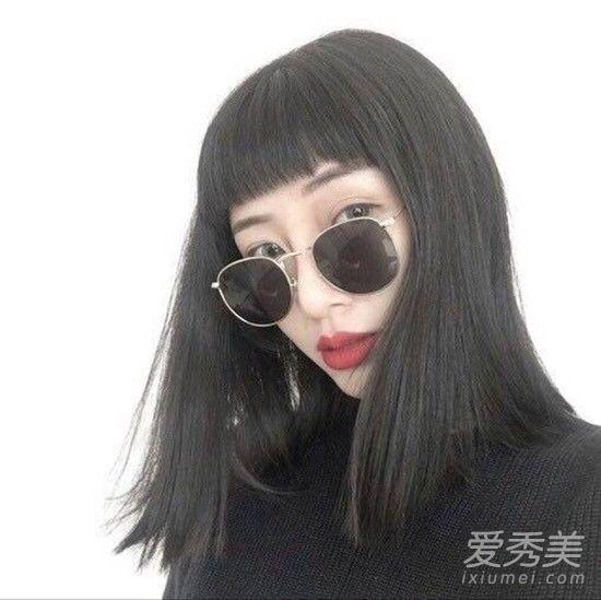 中发篇,喜欢欧美风,不妨来试试这样的短刘海,二次元画风的眉上刘海图片