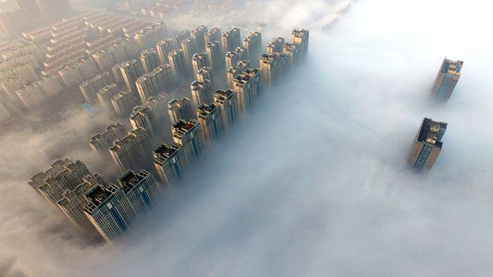 雾中许昌如仙境