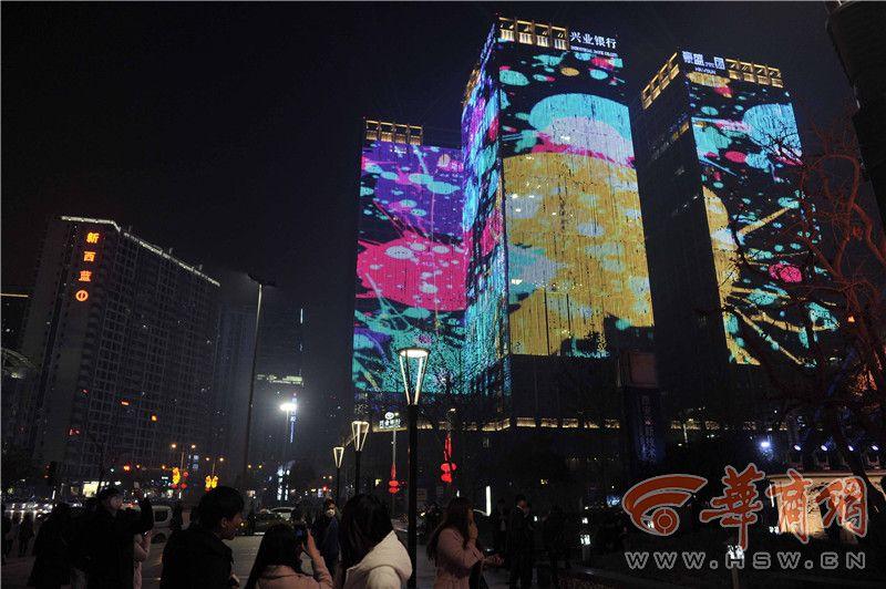 西安高新几栋高层满楼LED屏 闪烁至深夜影响居民休息