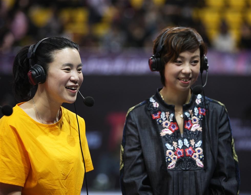 世乒赛选拔赛:张怡宁和王楠现身赛场