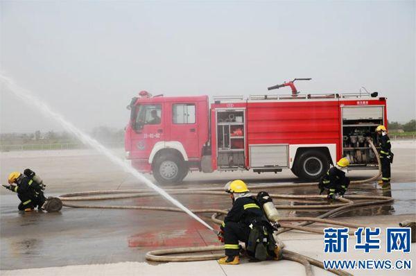 (信息)上街机场再次举行应急演练 确保郑州航展安全