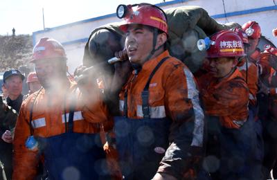 """陕西神木县""""4·19""""透水事故被困6人全部获救"""