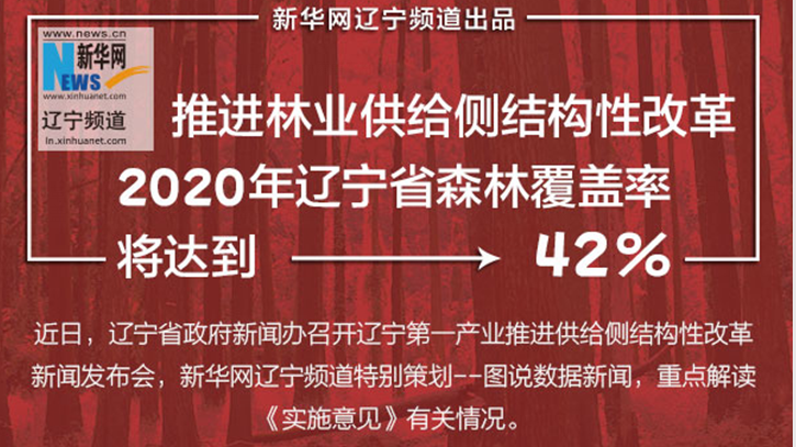 【图说供给侧结构性改革】2020年辽宁森林覆盖率将达42%