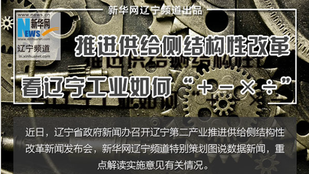 """【图说供给侧结构性改革】看辽宁工业如何""""加减乘除"""""""