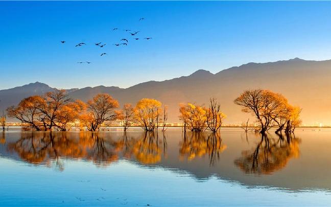 田园水彩风景画 乡愁