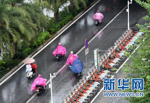 广西多地发布台风暴雨预警