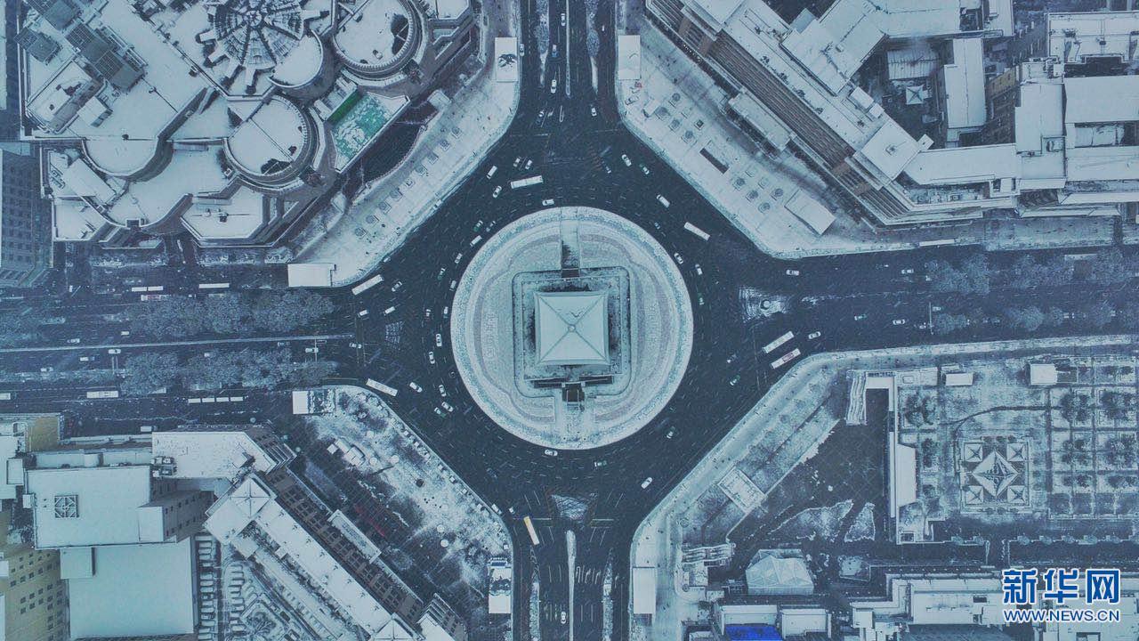 雪后初霁 西安银装素裹美如画