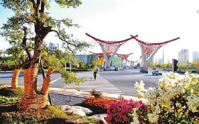 玉溪:首个街头海绵城市景观亮相
