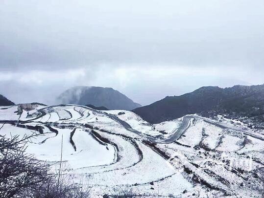 昆明舍块乡喜迎瑞雪