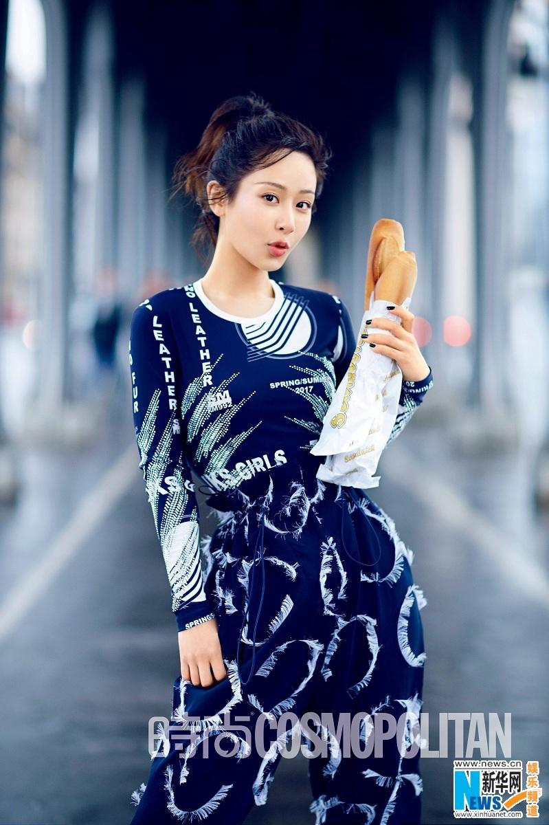 邂逅巴黎 杨紫时尚大片魅力尽显
