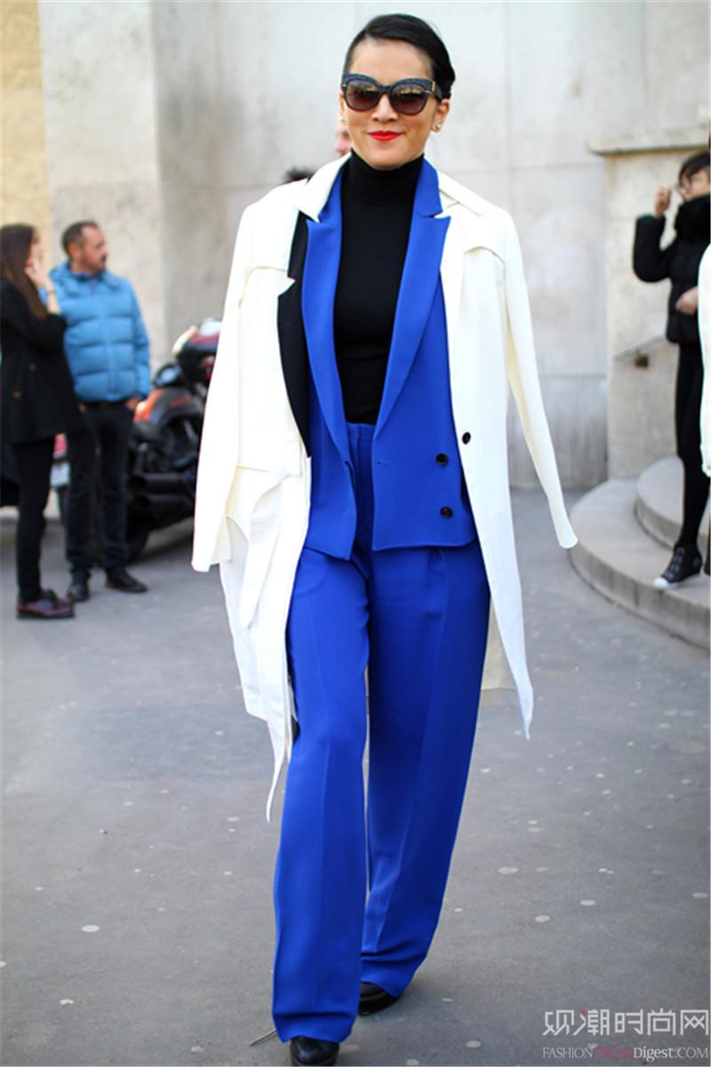 穿西装也能优雅迷人 时髦的穿搭秀请看这里
