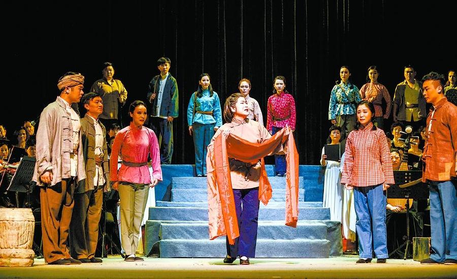 黄梅交响清唱剧《红梅赞》上演