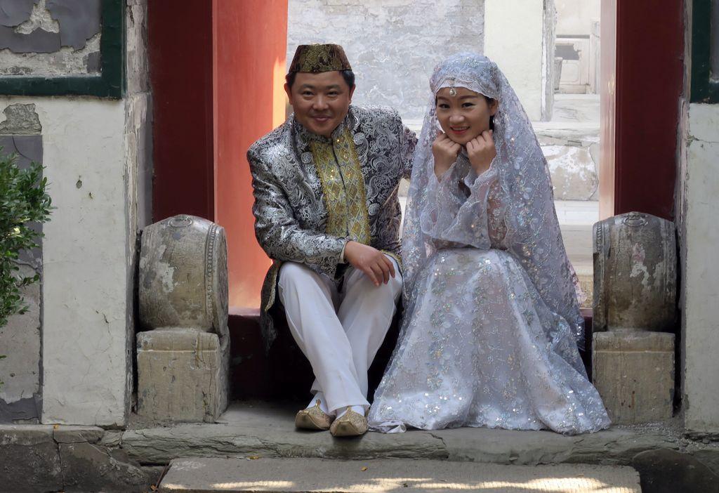 几幅穆斯林婚纱照