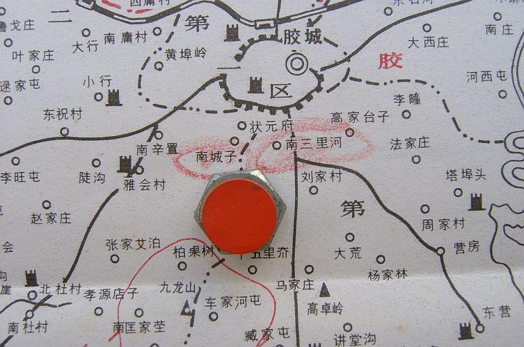 「南三里河」位胶州城以南四公里处,从「南三里河」往西北行至一公图片