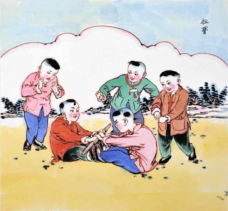 小孩游戏_讯文陈丹青中国传统儿童游戏