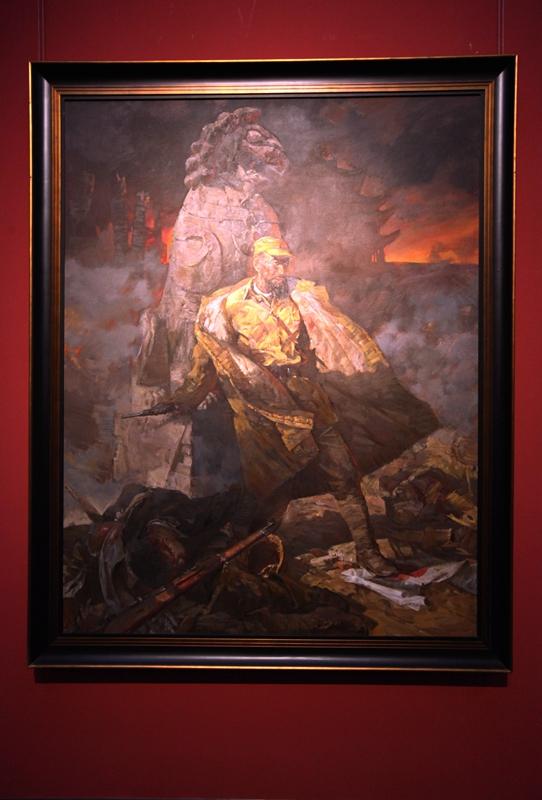 抗战 油画 战争 主题 的 儿童 画 战争 场面 儿童
