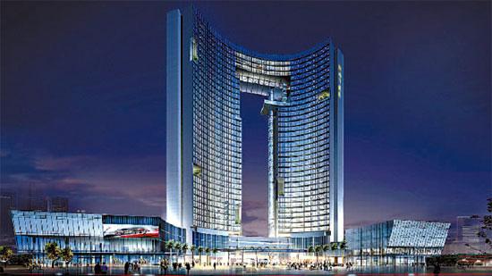 挺能整 东莞首富建豪华宾馆 形如央视大楼