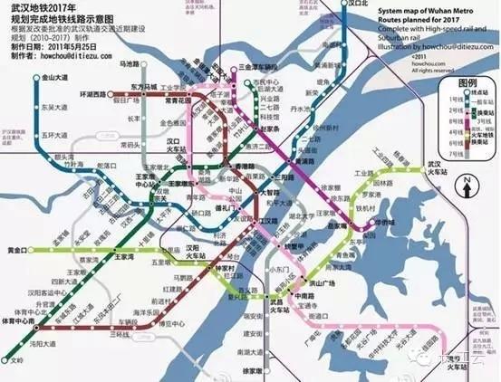 2017年武汉地铁线路图