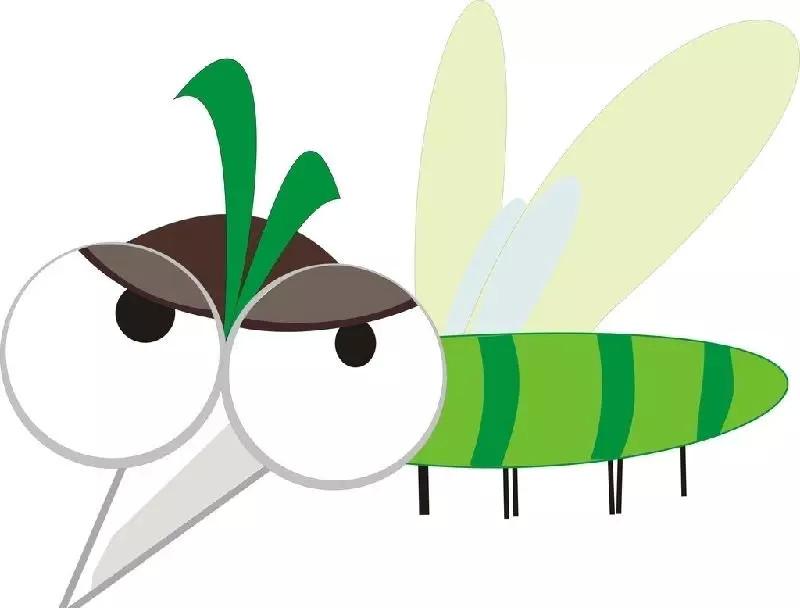 蚊子儿童画_蚊子怎么画简单图片