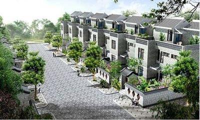 适合较平坦之地建筑房屋.且有条件一次性统一规划建设.-新农村建